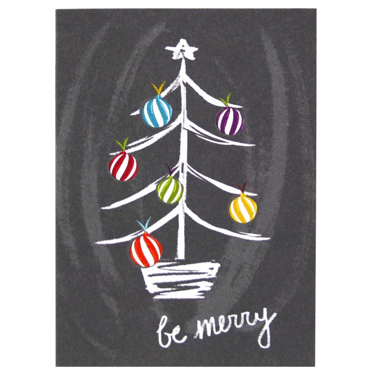 Spread holiday cheer with this charming and chalky illustration of a brightly…