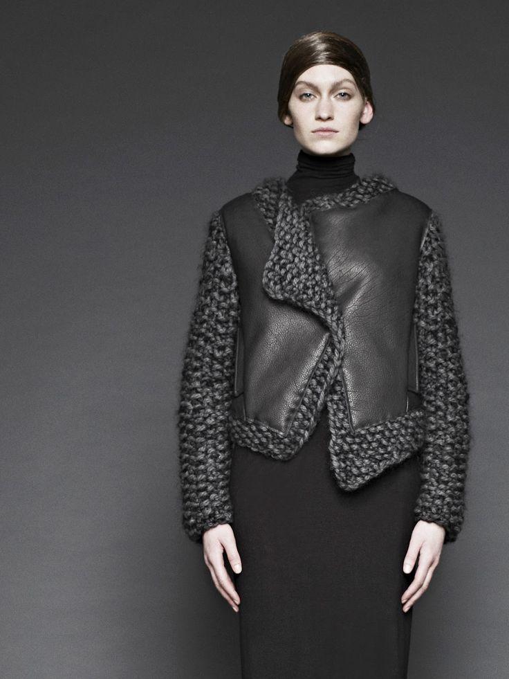 4020_hexagon+knit+leather+jacket.jpg (1200×1600)