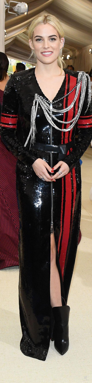2017 Met Gala - Riley Keough In Custom Louis Vuitton