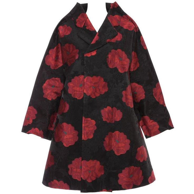 Comme des Garçons Floral Jacquard Swing Coat, F/W 2012 | From a collection of rare vintage coats and outerwear at https://www.1stdibs.com/fashion/clothing/coats-outerwear/
