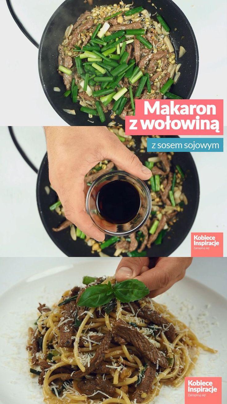 Makaron z wołowiną - orientalny smak