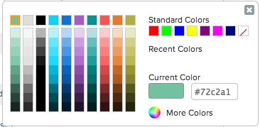 Benchmark Email colour picker
