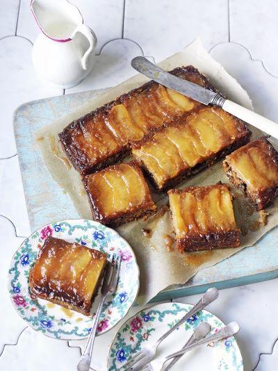 Vegan toffee apple upside-down cake | Jamie Oliver#EE5wh00BG0fg6qYc.97#EE5wh00BG0fg6qYc.97