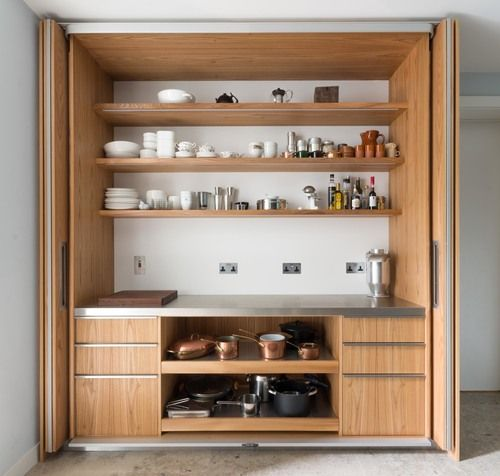 Powell Picano London - Clifton gardens bespoke kitchen folding sliding pocket doors