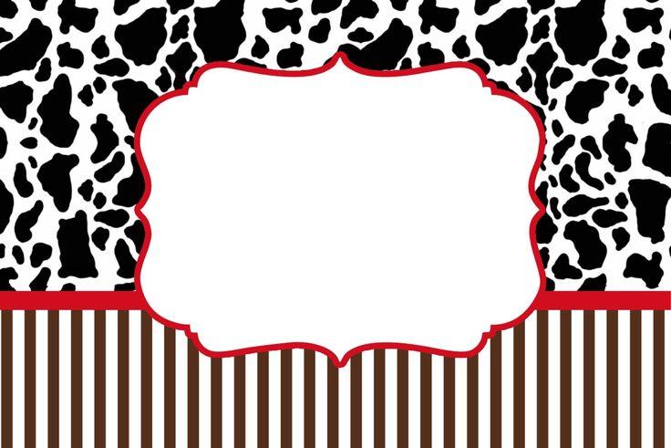 Fundo Vaquinha e Listras Marrom -Kit Completo com molduras para convites, rótulos para guloseimas, lembrancinhas e imagens! - Fazendo a Nossa Festa