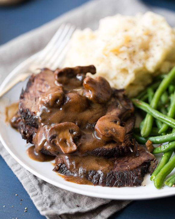 Stout Braised Pot Roast with Mushrooms