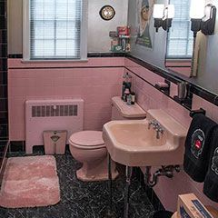 Top 10 Feature Stories In March Everything Pink Pinterest Bathroom Retro Bathrooms And Vintage