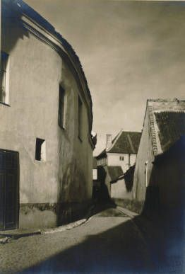 Wilno: The Bernardinų Lane :: Jan Bulhak Collection :: Digital Collections :: University at Buffalo Libraries. Click the image to visit the University at Buffalo Libraries Digital Collection and learn more about the photograph. #ublibraries #polishroom #JanBulhak #Poland
