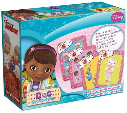 Grandi personaggi per i bambini piccoli! Ecco un colorato mazzo di carte giganti con Dottoressa Peluche. Nella confezione 40 carte in formato maxi e in robusto cartone e le istruzioni per divertirsi con più di 10 giochi.