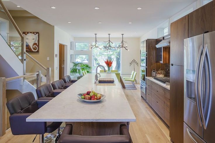 Kitchen counter in Chicago's Net Positive energy-efficient home