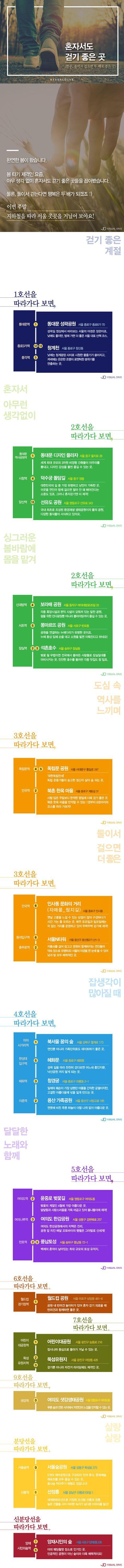 서울 지하철 따라 '혼자서도 걷기 좋은 곳' [카드뉴스] #walk / #cardnews ⓒ 비주얼다이브 무단 복사·전재·재배포 금지