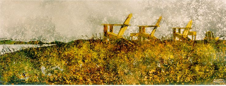 """horizon annapolis basin fundy side ns  #30  12"""" x 40""""  micheal   zarowsky    watercolour on arches paper / private collection"""