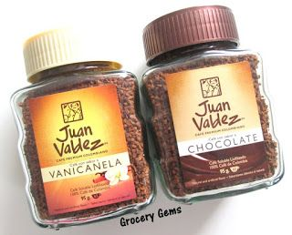 Juan Valdez Instant Coffee...Vanicanela (vanilla & cinnamon) and Chocolate Cartagena, Colombia