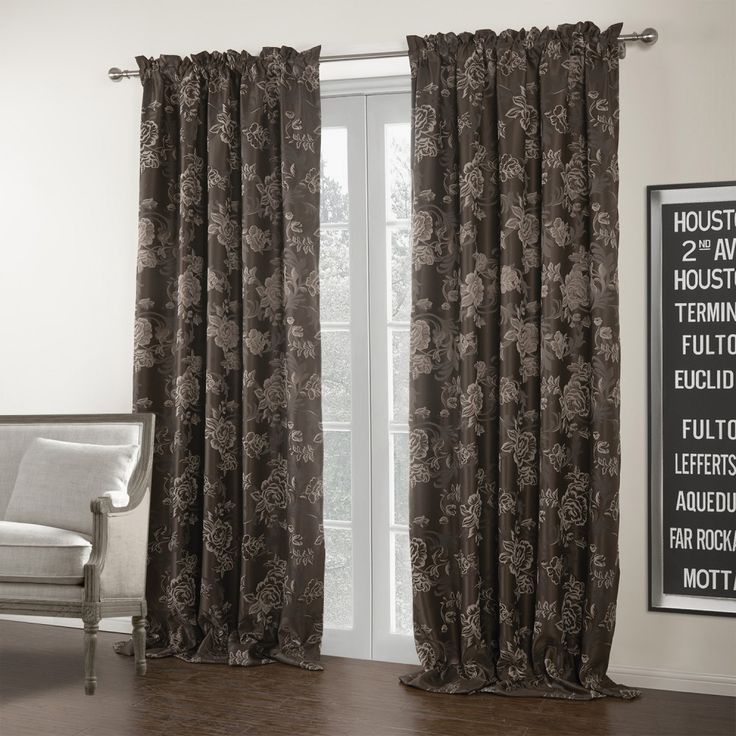 73 Best BROWN CURTAINS Images On Pinterest