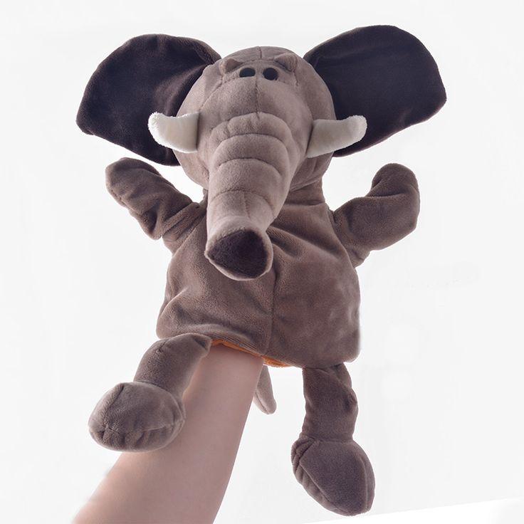 Плюшевые Куклы-Марионетки Животных Моделирования Слон Куклы Дети Подарки Рук Кукольный Родитель-ребенок игра Плюшевые Игрушки для Девочек