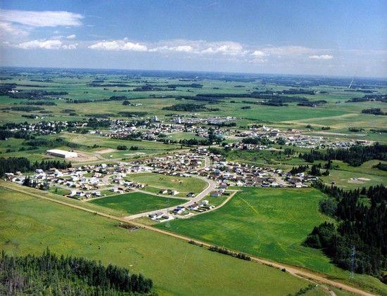 Aerial view of Millet, Alberta