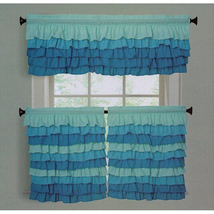 Jarboe Decorative Tier Window Valance Window Valance Cool