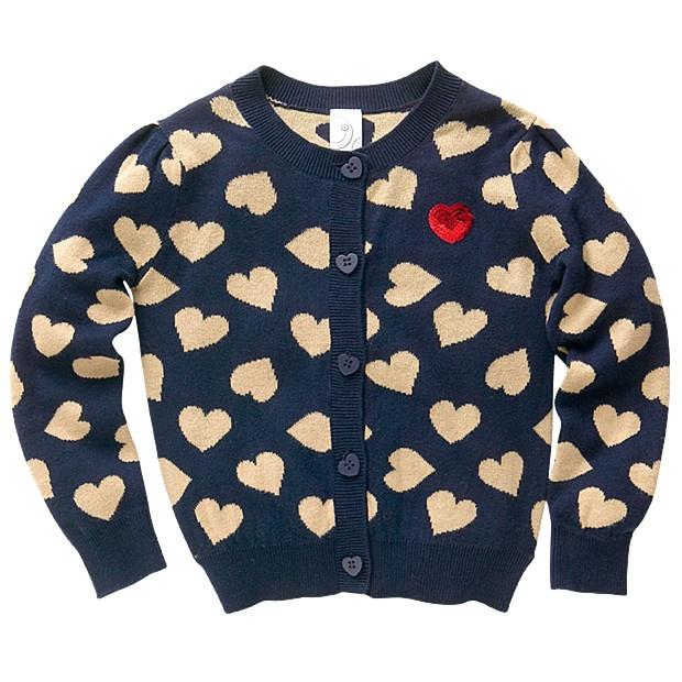 Retro Heart Cardigan