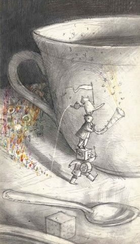 Shaun Tan - The Tea Ceremony - every time my wife drinks tea, I hear something small but grand. There you go.