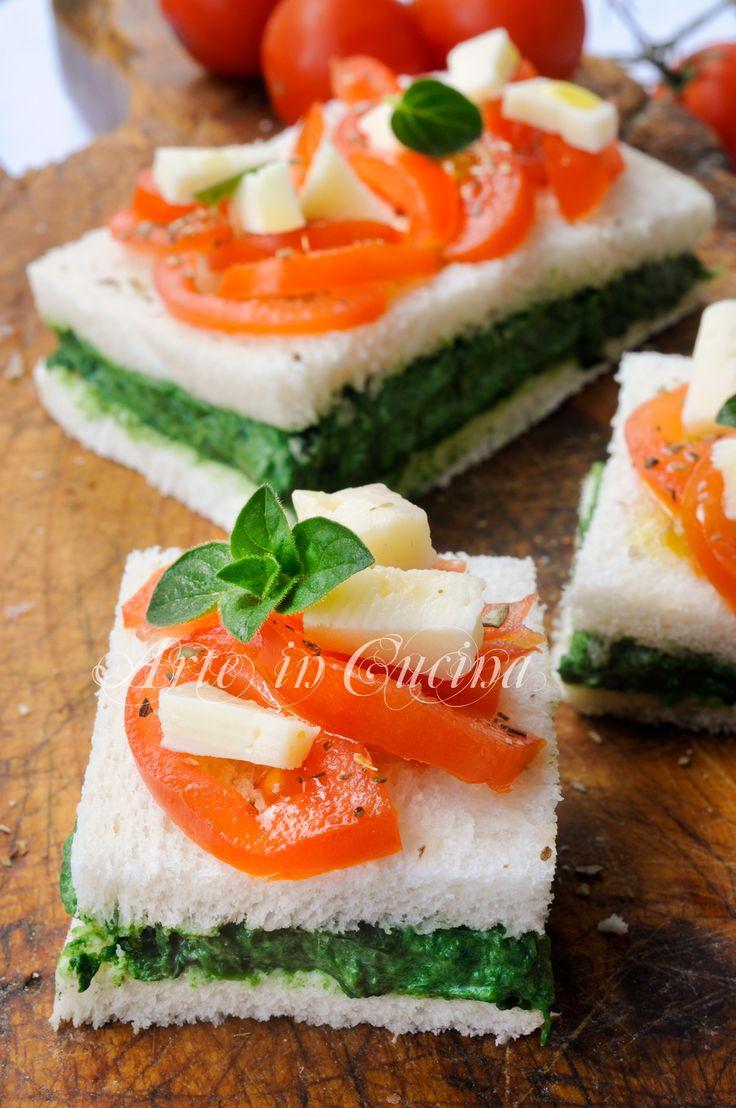 Lasagna fredda di pancarre spinaci e pomodoro vickyart arte in cucina