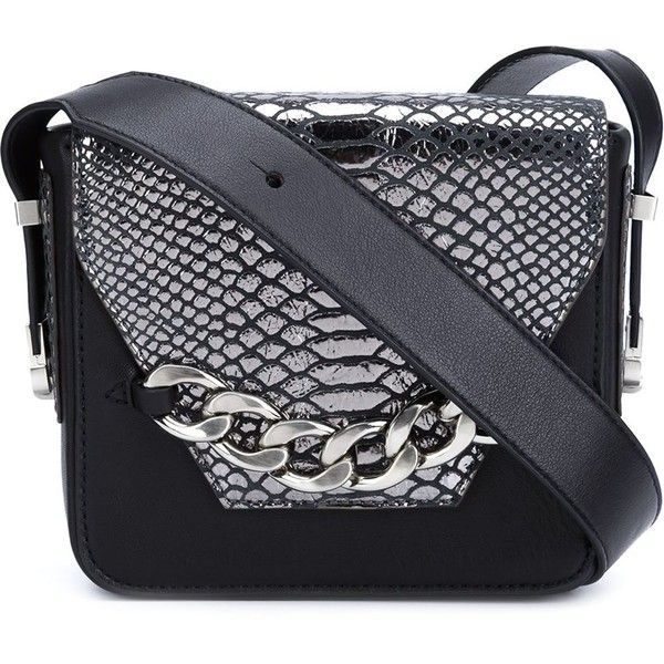 Thomas Wylde snakeskin detail bag ($260) ❤ liked on Polyvore featuring bags, handbags, black, thomas wylde handbags, snakeskin handbags, thomas wylde, thomas wylde purse and thomas wylde bags
