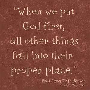 when we put God first.