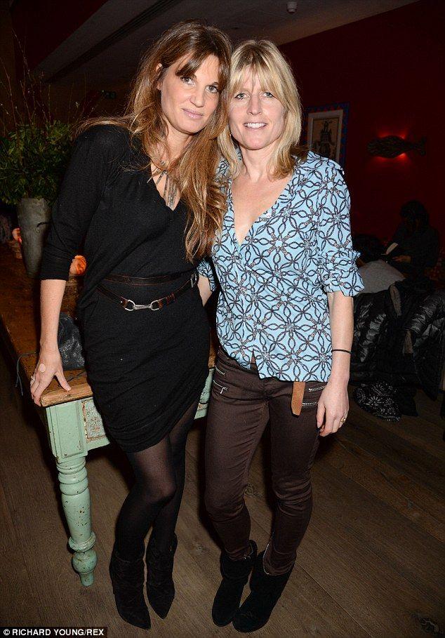 Famous friends: Jemima caught up with Mayor Boris Johnson's sister Rachel as they enjoyed ...