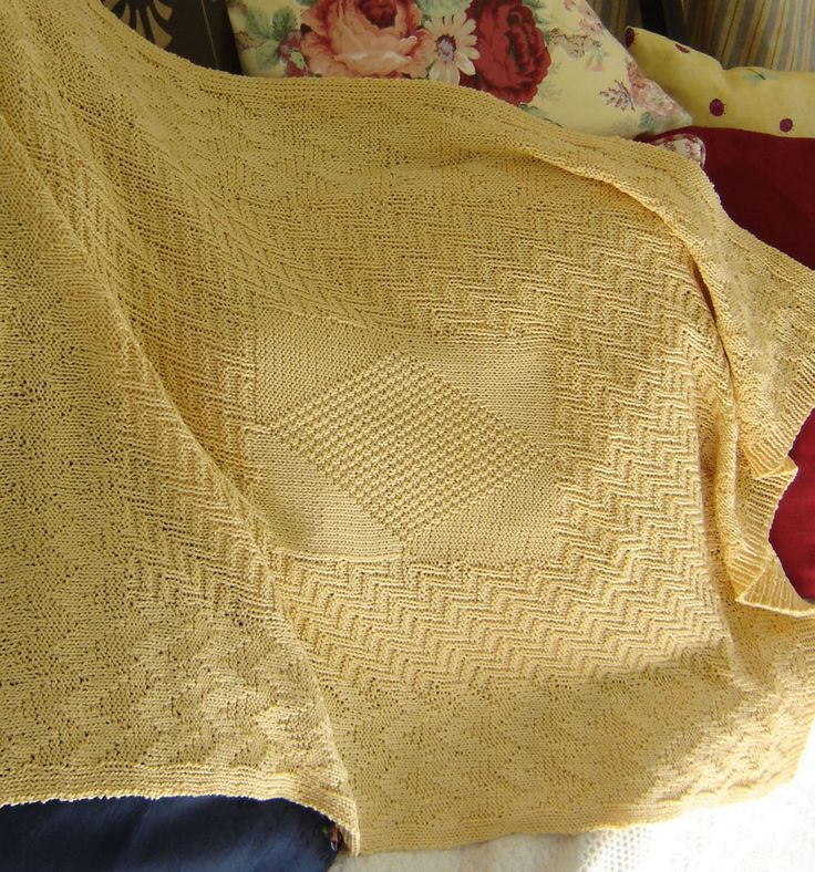 A baby blanket that looks the same on BOTH sides - maddy baby Knitting Patterns