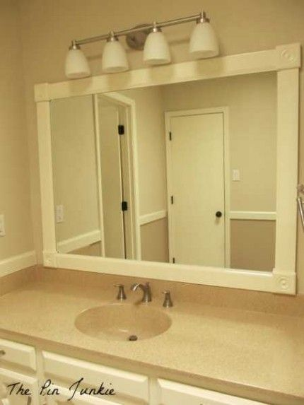 How To Frame A Bathroom Mirror Diy Mirror Makeover Top Diy Craft Picks