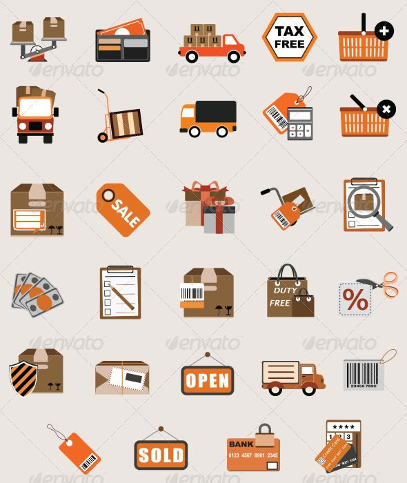 Flat Vector Business Shopping Icon Illustrations  #GraphicRiver         Set of 30 professional eCommerce / Shopping icons, ready for web, multimedia & print. In addition, this icon set is totally perfect for use in a wide range of new media templates like: Web Marketing Agency Services, Social Media Services Showcase, Websites, Presentations, Promotional Materials, illustrations or Infographics.   Simple to work with and highly customizable, it ca be easily adjusted to fit your needs.  …