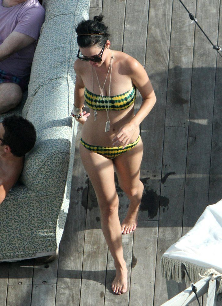 Pin for Later: The Ultimate Celebrity Bikini Gallery  In July 2012, Katy Perry looked great in her printed bikini while spending time with friends in Miami.