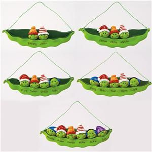 Peas In A Pod Christmas Ornaments Personalized Seasonal Gifts Lillian Vernon Polymer Pinterest Clay And