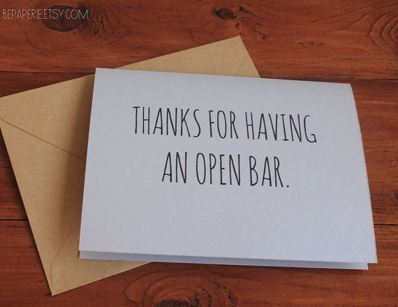 When you want to say thanks for your favorite part of the wedding.