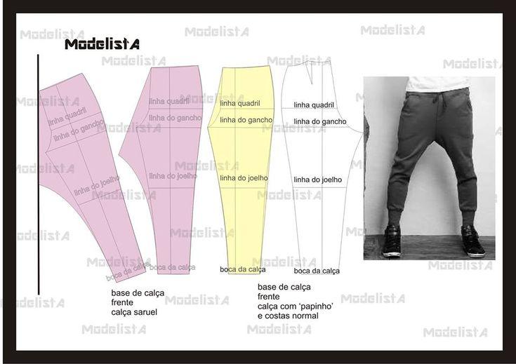 Calça masculina. Fonte: http://www.facebook.com/photo.php?fbid=532151233487453=a.426468314055746.87238.422942631074981=1
