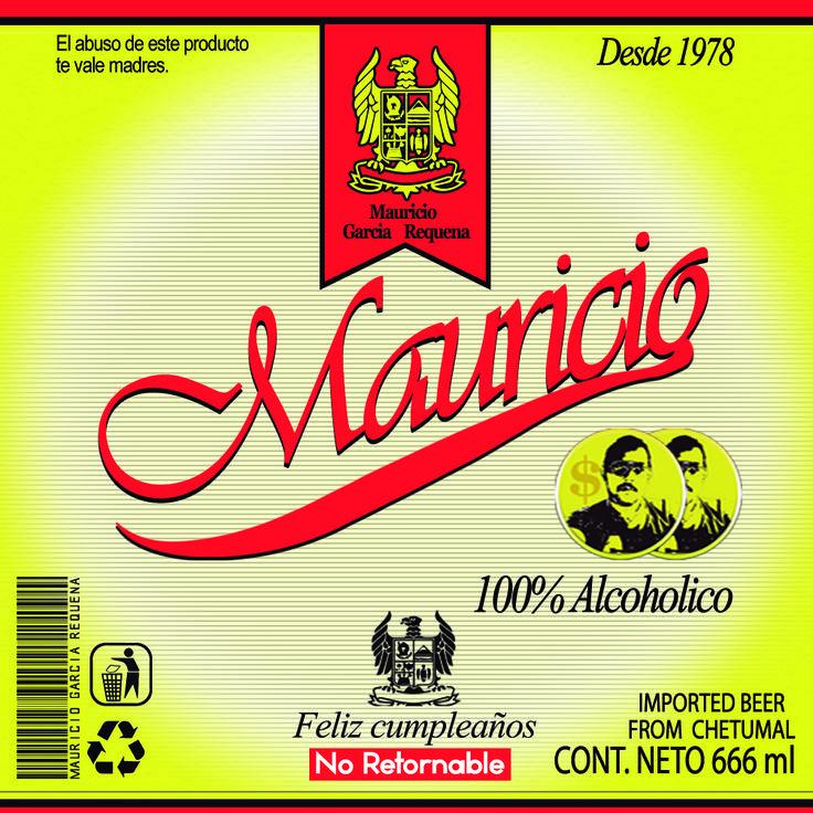 Etiqueta para un cliente tomando como ejemplo el modelo de Diseño de la cerveza Superior