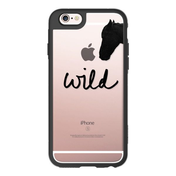 "iPhone 6 Plus/6/5/5s/5c Case - ""Wild"" + Wild Horse (Cutout) ($40) ❤ liked on Polyvore featuring accessories, tech accessories, iphone case, apple iphone cases, iphone cover case and iphone hard cases"
