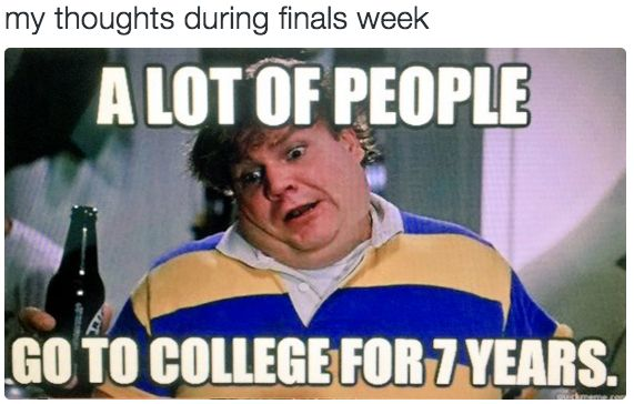 When you're trying to accept your fate after a particularly rough finals week: | 24 Struggles Only People Who Have Gone Through Finals Week Will Understand