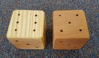 Wooden Beech and Ash Dice