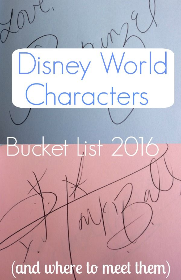 Disney World Characters Bucket List 2016 (And Where To Meet Them) - The Life Of Spicers