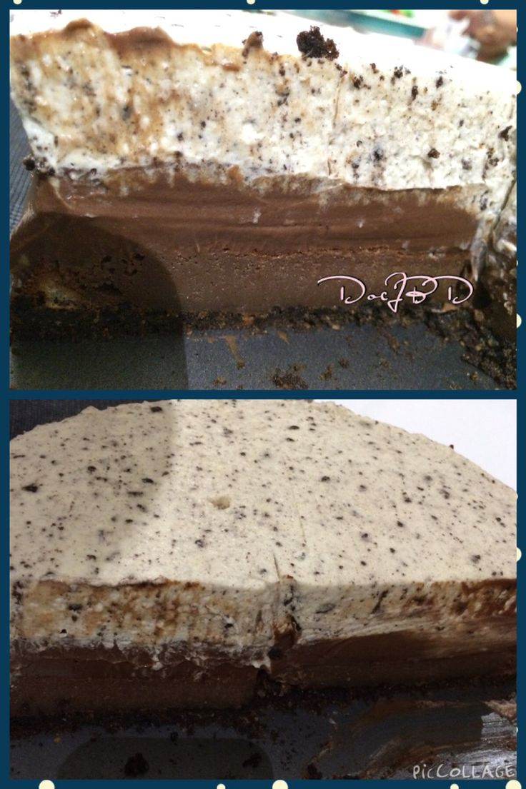 Triple layered Choco Ganache with Frangelico and Oreo Silk Cake