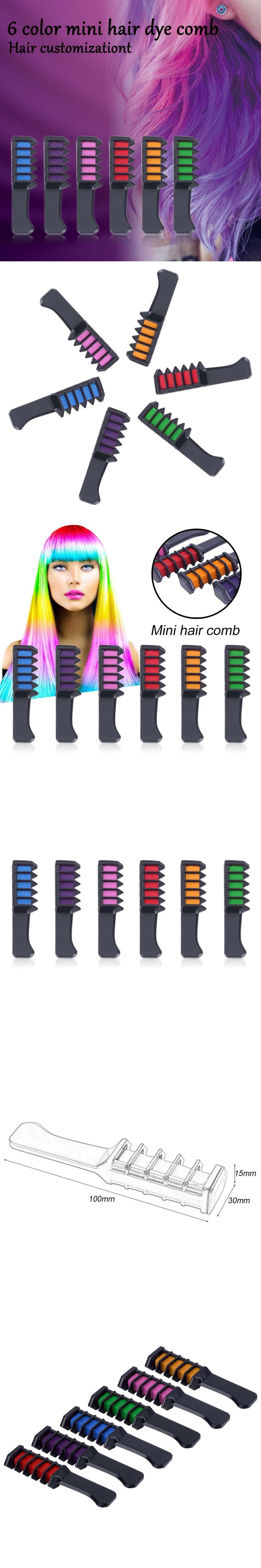 Mini Disposable Personal Salon Use Hair Dye Comb Professional Crayons For Hair Color Chalk Hair Dyeing Tool