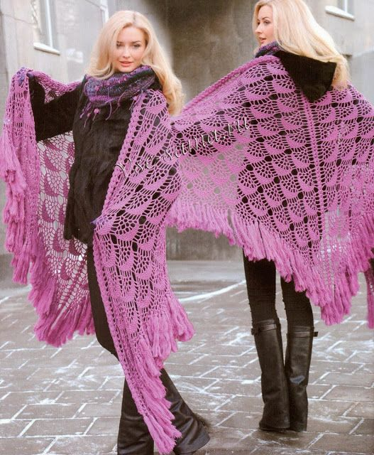 Image result for pink crocheted roses and dragonflies on netted crochet fashion dress and sweater creations
