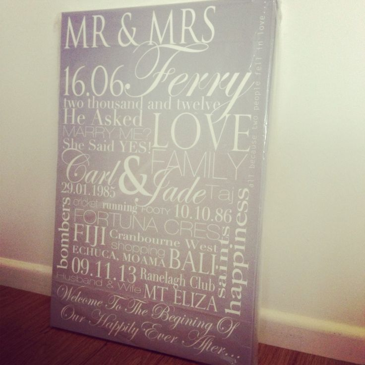 Stunning wedding canvas #memoriesonwalls visit www.memoriesonwalls.com for pricing & to place your order... #personalisedwallart #gorgeous #gifts for #wedding  #engagement #birthday #anniversary any #celebration available #framed or on #canvas any colour scheme available, delivery to #frankston 3199 location, delivery/postage quote available for the #morningtonpeninsula #melbourne & within #australia contact me for more info memoriesonwalls@gmail.com or 0403623213 - Jess Caffrey