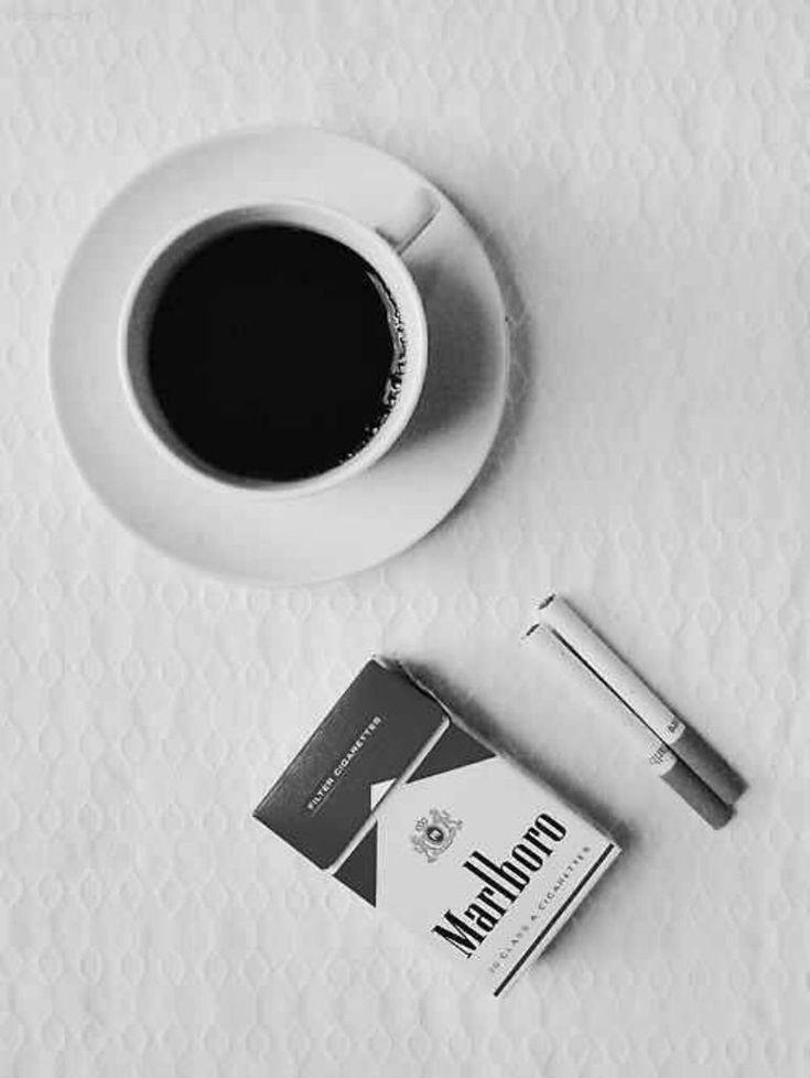 coffee & cigarettes | black and white