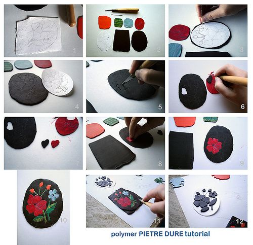 polymer pietre dure tutorial | Flickr - Photo Sharing!