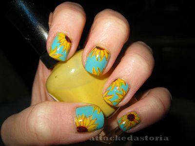 Sunflowers: Sunflowers Toe Nails, Nails Art, Fingernail Design, Nails Design, Sunflowers Nails, Sun Flower, Nails Polish, Sunflower Nails, Nail Art