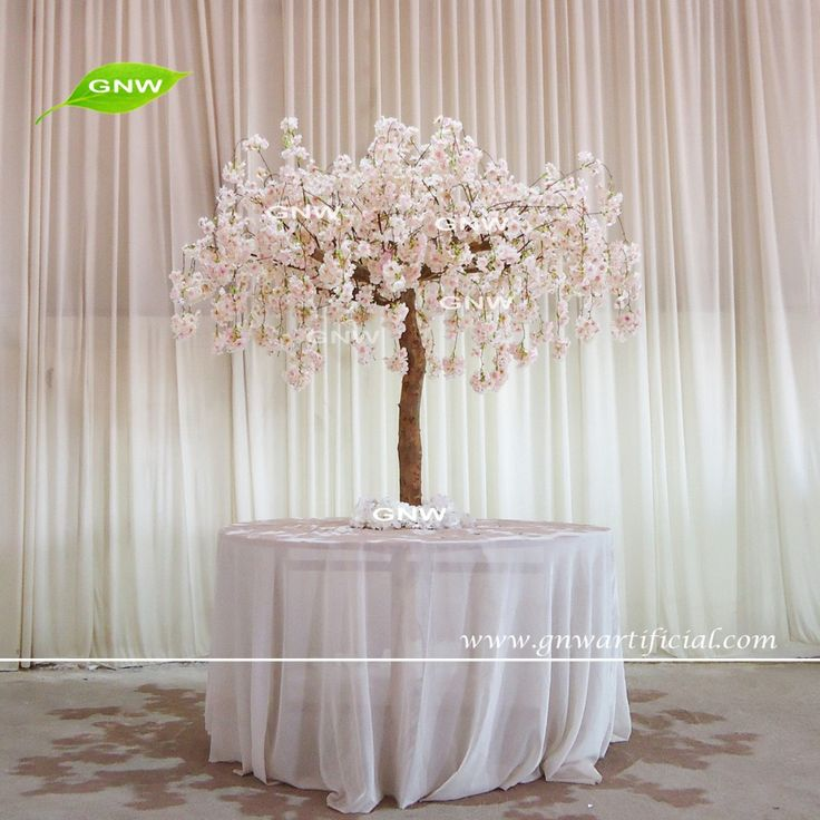 GNW CTR1605008-A peach wedding table tree centerpieces of artificial cherry blossom tree