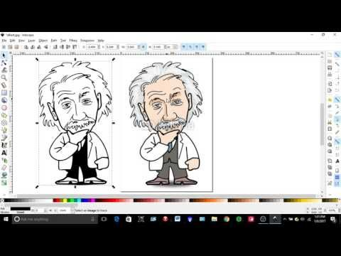 How to Take an Image File To  G-Code File For a CNC Router or Mill - YouTube