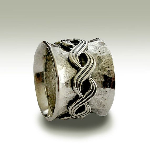 Silver wedding ring, oxidized band,eternity ring, celtic band, Celtic braided sp…   – Jewelry