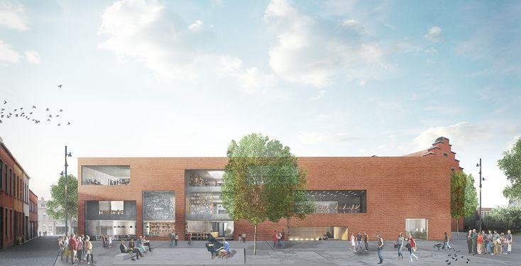 KAAN Architecten Integrates Historic School into New Library & Performing Arts Center